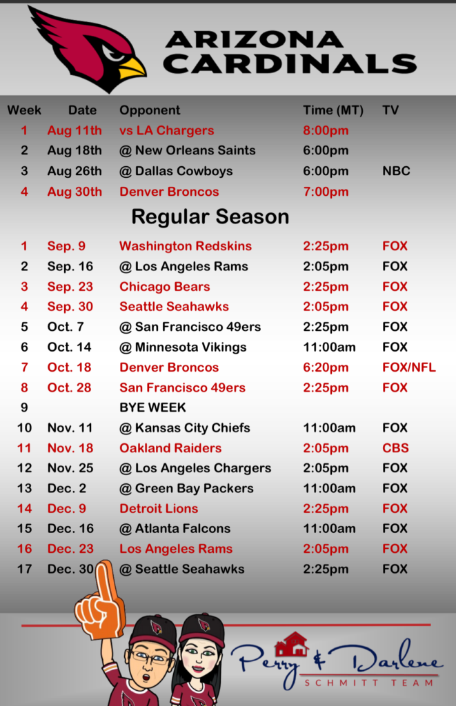 Slobbery image in cardinals printable schedule